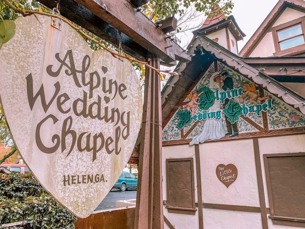 Alpine Wedding Chapel in Helen, GA