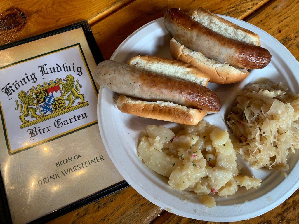 Eat brats at Helen Oktoberfest