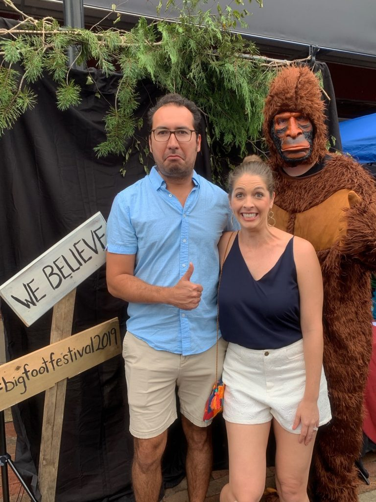 Take a photo with Bigfoot at the WNC Bigfoot Festival