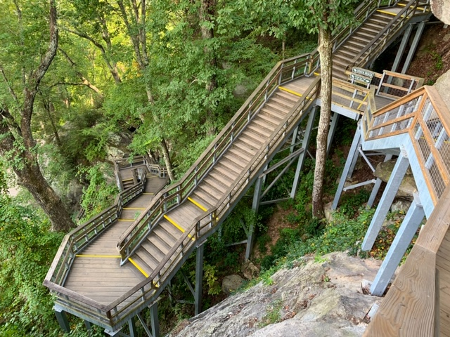 Stairs at Chimney Rock State Park