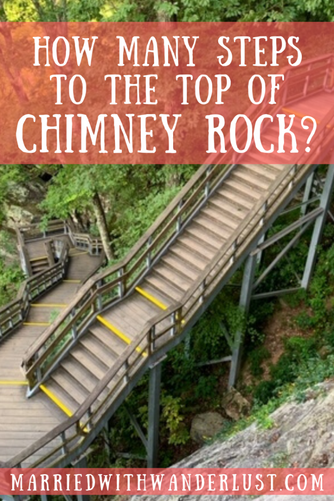 How many steps to the top of Chimney Rock?