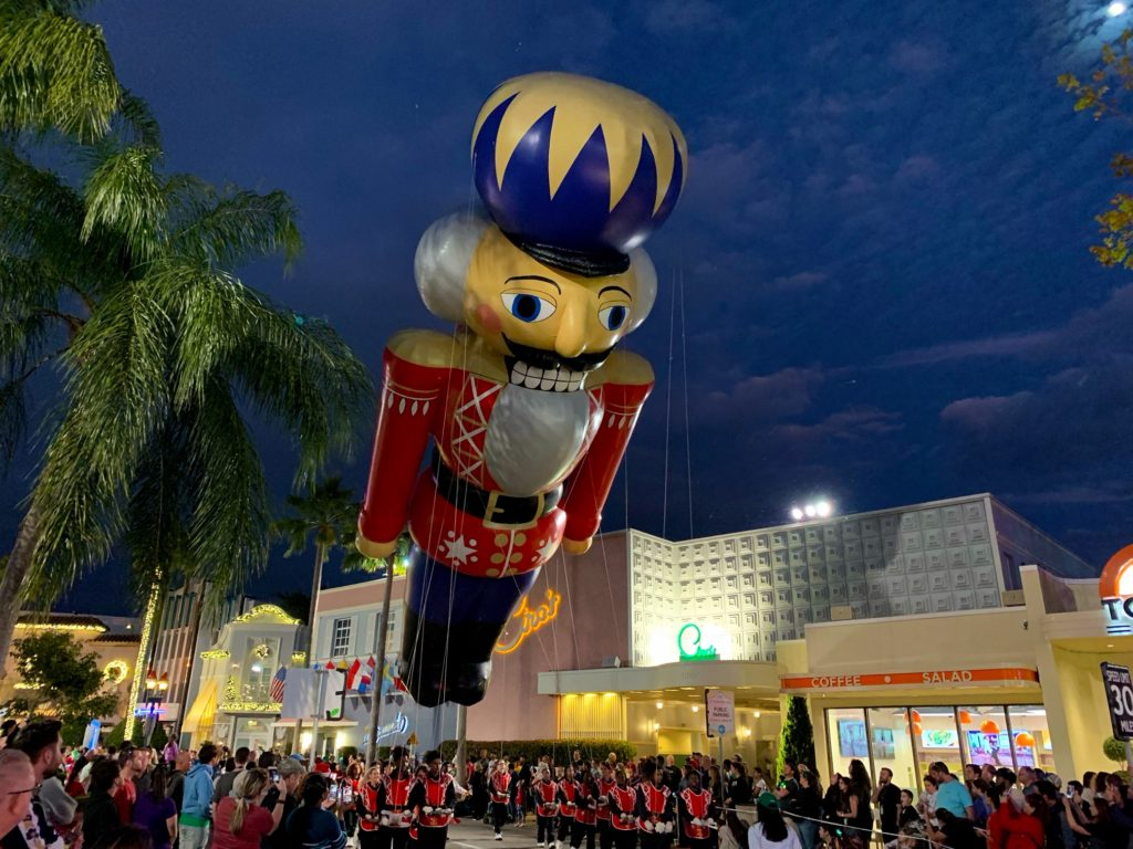 Nutcracker Balloon at the Universal Christmas Parade