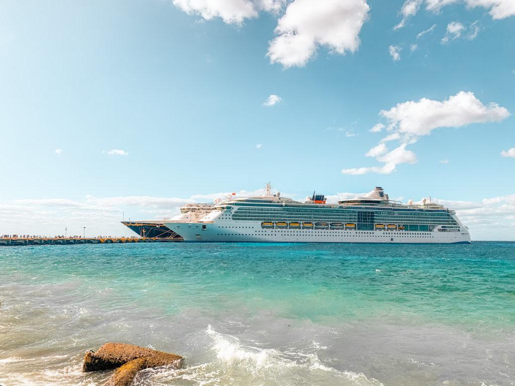 Cruise ships at Cozumel cruise port