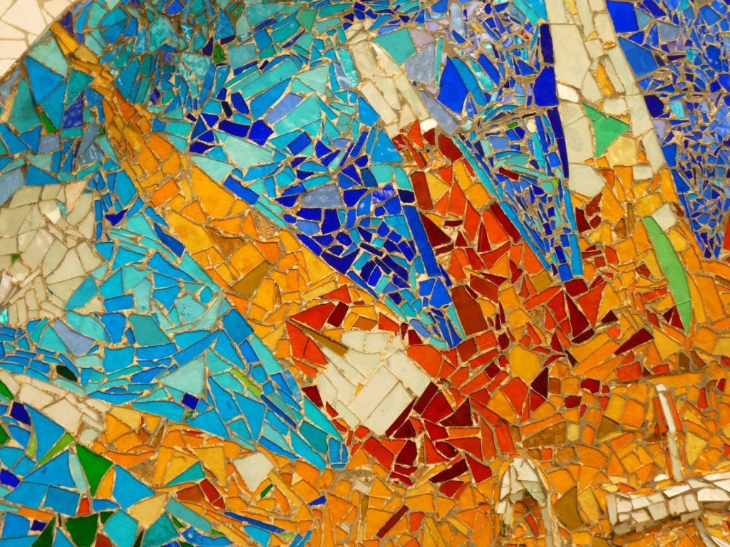 Colorful art in Barcelona's Park Guell