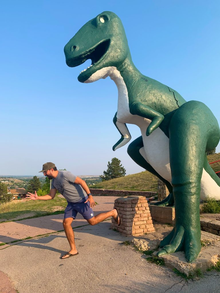 T-rex at Dinosaur Park, South Dakota